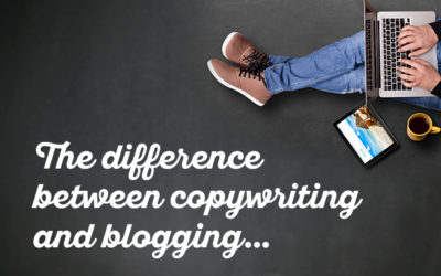 The difference between copywriting and blogging